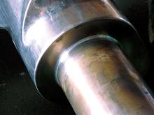 産業用水冷ローターハンダ付け施工例(特殊鋼)